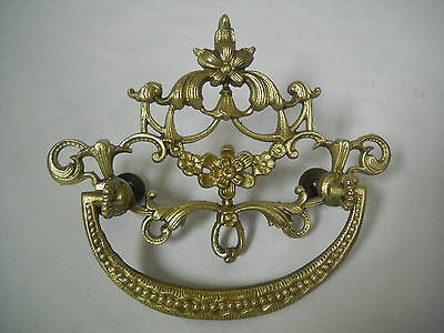 "Antique  Victorian Cast Brass Drawer Pull 3"" Centers"