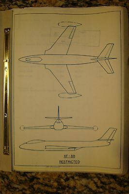 Mcdonnell F-88 Drawings And Info Folder
