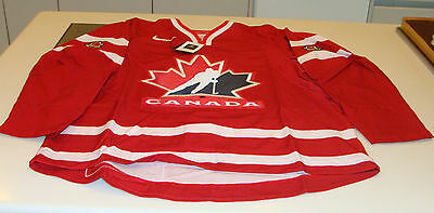 Team Canada 2014 World Juniors Red Away Pro 54 Hockey Jersey IIHF Sweden