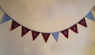 West Ham Football club Fabric Bunting Banner Bedroom Decoration CHRISTMAS Gift