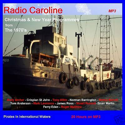 Pirate Radio Caroline Christmas & New Year 1970s Over 20hrs On DVD MP3 Disc