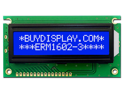 5V Blue 16x2 LCD Module Character Display w/Tutorial,HD44780,Bezel,Arduino
