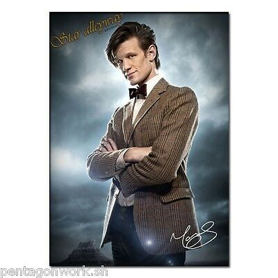 Doctor Who Matt Smith signed photo poster reprint 11th Doctor autographed