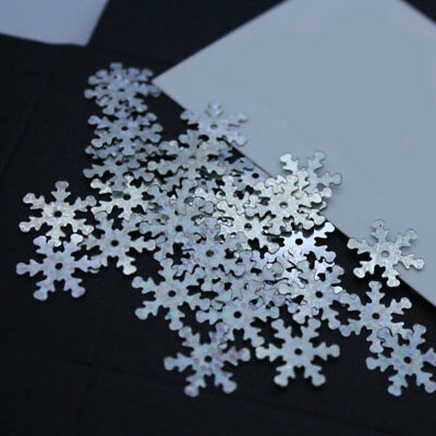 5grams Holographic Silver Loose 13MM Snowflake Xmas Sequins Sewing Wedding Craft