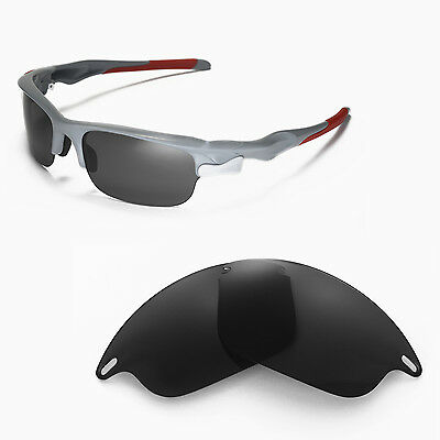 New Walleva Polarized Black Replacement Lenses For Oakley Fast Jacket Sunglasses