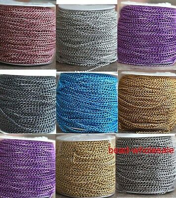 5m/100m cable wave round Aluminum chain finding 1.0x6x4mm