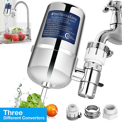 Faucet Water Filter For Kitchen Sink Bathroom Mount Filtration Tap Purifier USA