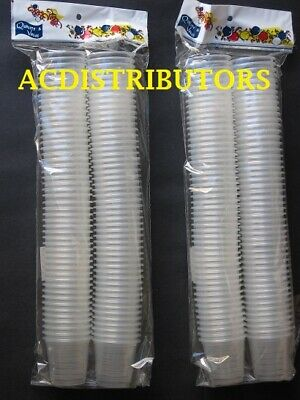BULK 200 Clear Disposable Shot Plastic Glasses 30ML Perfect for any Celebration