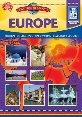 Europe Exploring Geography Ages 8-12+ BNew Australian Curriculum Teacher Res BLM