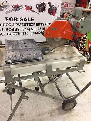 "MK 10"" Wet Tile Slate Cutting Saw Diamond Edge Blade Ceramic Water Cutter Used"