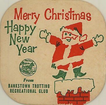 Vintage Coaster: Bankstown Trotting Recreational Club. Christmas.