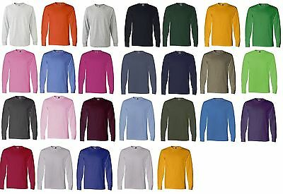 NEW Fruit Of The Loom T-Shirt Tee 5.6 oz Heavy Cotton Men's Long Sleeve 4930
