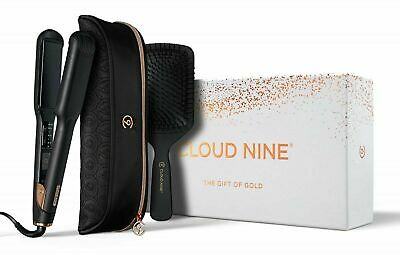 Cloud Nine WIDE PLATE Iron Hair Straightener Limited Edition Gold Gift Set
