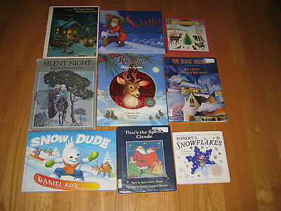 Lot of 9 Hardcover Children's Christmas Books -BIG Picture Books LIKE NEW
