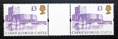 GB 1995 £3 Castle Unmounted Horizontal Gutter Pair SALE PRICE BN1837