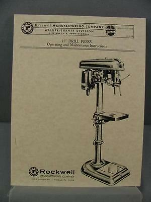 "Rockwell 17"" Drill Press Operating & Maintenance Instruction Manual"