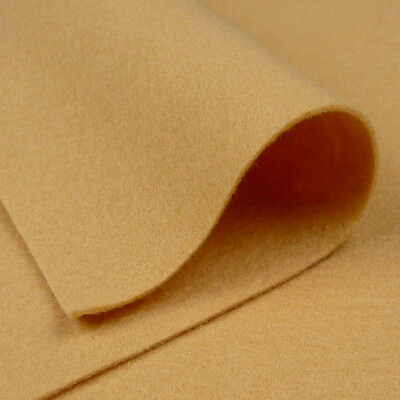 Woolfelt Champagne Beige ~ 22cm x 90cm / wool felt fabric quilting pale brown