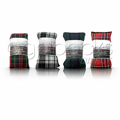 Microwavable Wheat Bag Hot Cold Pack Heat Pad Neck Body Wrap Pain Relief Tartan