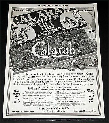 1914 Old Magazine Print Ad, Bishop Calarab Candy Figs, Made Where The Figs Grow!