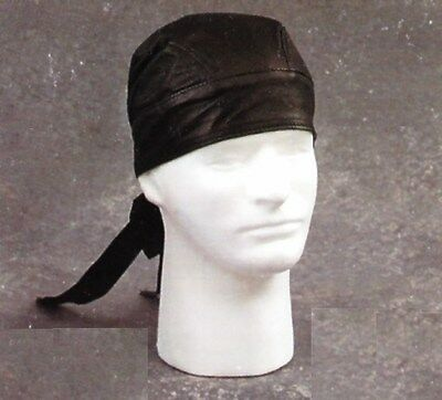 Leather Skull Cap, Cotton, One Size Fits Most, Made in USA