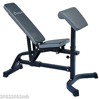 Abdominal Bench Extension Weight Bench Adjustable Exercise Machine Preacher Curl
