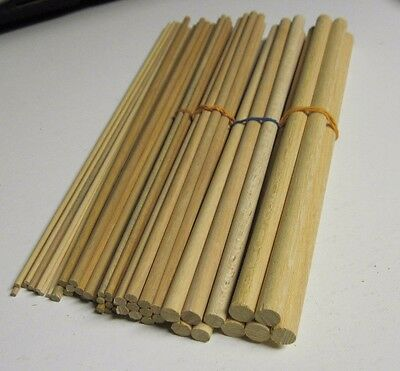 assorted joblot wood wooden dowel pack 10 MM , 6 mm, 3 mm + more  free post