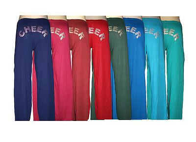 Solid Cheer Pants Booty Print Spanks Cheer Dance Yoga Outerwear Wholesale