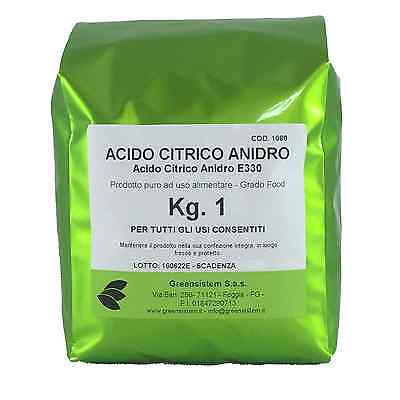 Acido Citrico Anidro Kg. 1 - E330 - Brillantante E Ammorbidente