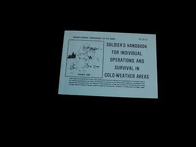U.s Army Soldier's Handbook Survival In Cold Weather Areas
