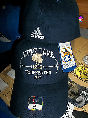 Notre Dame Fighting Irish Adidas 12-0 Undefeated Season Fitted Hat Cap ND IN S/M