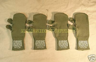 2 Pair US Military Trigger Finger Wool Inserts Gloves NEW Size Medium