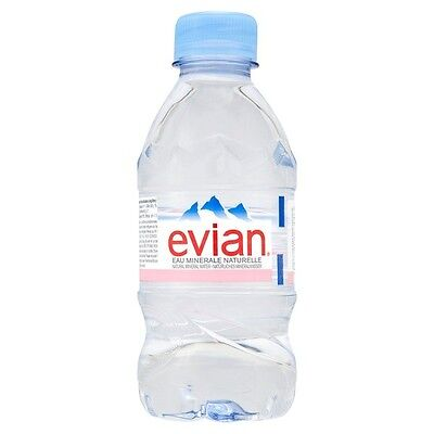 Evian Natural Mineral Still Water 48x330ml Bottle - UKB693