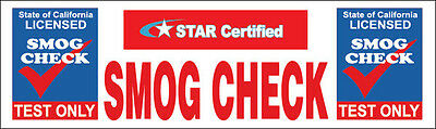 3x10 ft Vinyl Banner Sign New - SMOG CHECK Test Only STAR Certified