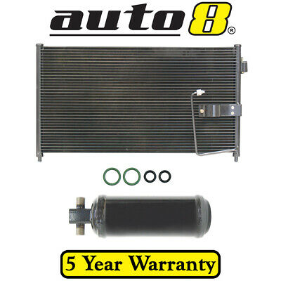 Condenser & Drier & orings Fits Holden Commodore VT VX VU WH 3.8L & 5.0L & 5.7L