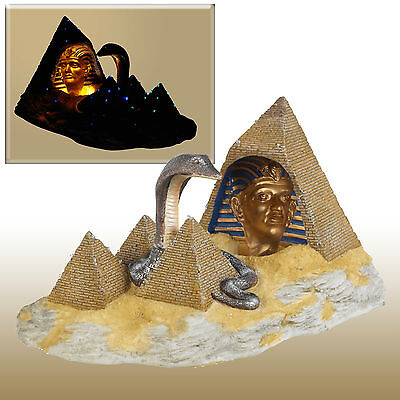 Light Up 3D Pharaoh's Promise 2 Model Of Egyptian Pyramids & Cobra Snake Gift