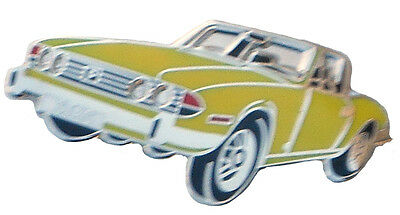 Triumph TR8 car cut out lapel pin Blue