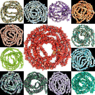 3x5-5x8mm Natural Gemstone Freeform Chips Loose Beads Strand 35""