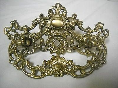 """Antique Victorian Cast Brass Drawer Pull 3"""" Centers"""