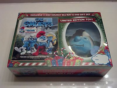 The Smurfs w/ Toy Clip Plush Limited Edition Gift Set (Blu-ray/DVD USA) *SEALED*