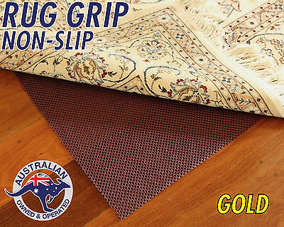 GOLD GRADE RUG GRIP - NON SLIP UNDERLAY PAD - FOR RUGS AND RUNNERS - 400g/SQM