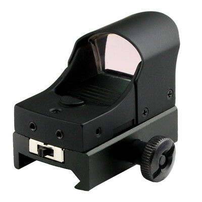 25mm Lens Micro Red Green Dot Scope Sight For Weaver Picatinny Mount w/Sunshade