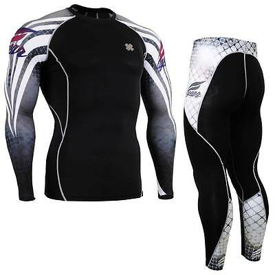 FIXGEAR CPD/P2L-B38 SET Compression Shirts & Pants Skin-tight MMA Training Gym