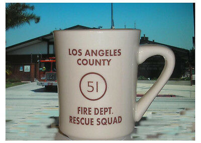New Style Ceramic LA County Station 51 fire fighter emergency Rescue Squad Mug