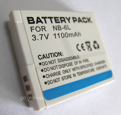 NB-6L Battery Pack for Canon PowerShot D10 D20 SD1200IS SD1300IS Digital Camera