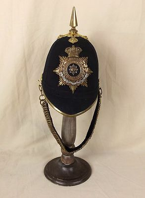 Victorian Worcestershire Regiment Spiked Black Cloth Spikehelmet