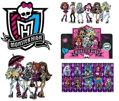 *****5 Great Monster High *******  ***fabric/t-Shirt Iron On Transfers