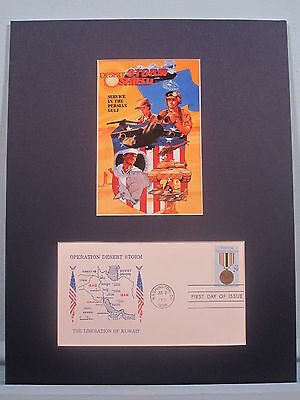 Honoring The U.S.  Veterans of Desert Storm & First Day Cover