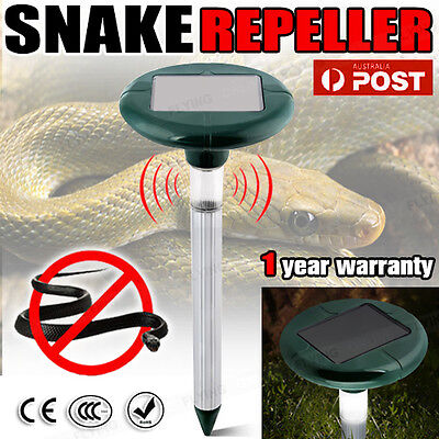 20x Snake Repeller Solar Powered Panel Pest Multi Pulse LED Repellent Rodent AU