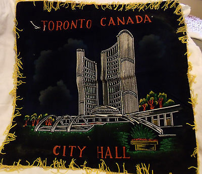 Vintage Lot of 3 Souvenir Pillow Covers or Wall Hangings from Toronto