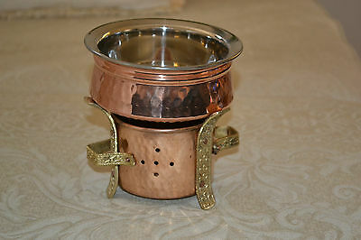 Copper Handi Bowl. Hand made beaten finish. Curry bowl. small or large size